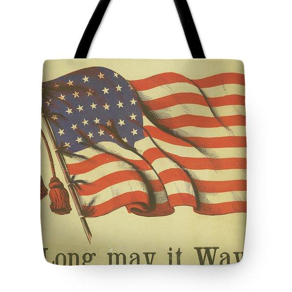 Long May It Wave Tote Bag