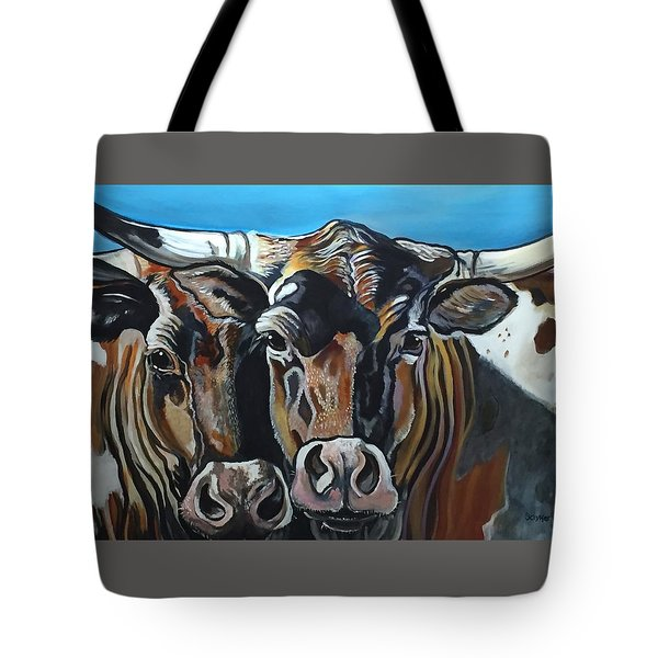 Longhorns, Interrupted Tote Bag