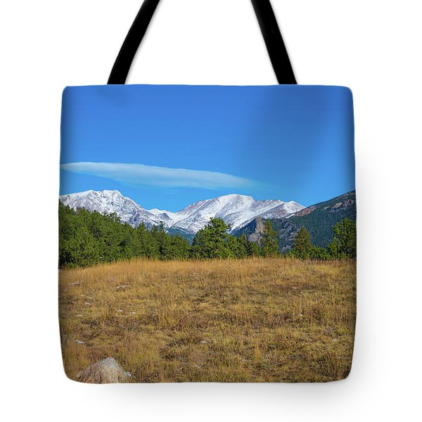 Longs Peak From Upper Beaver Meadows Tote Bag