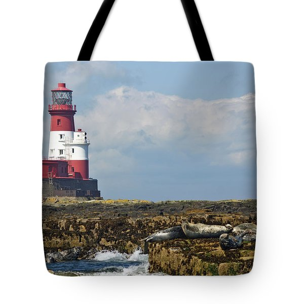 Tote Bag featuring the photograph Longstone Lighthouse, Northumberland by David Birchall