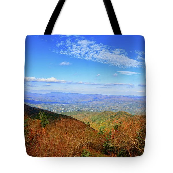 Tote Bag featuring the photograph Looking Towards Vermont And New Hampshire by Raymond Salani III