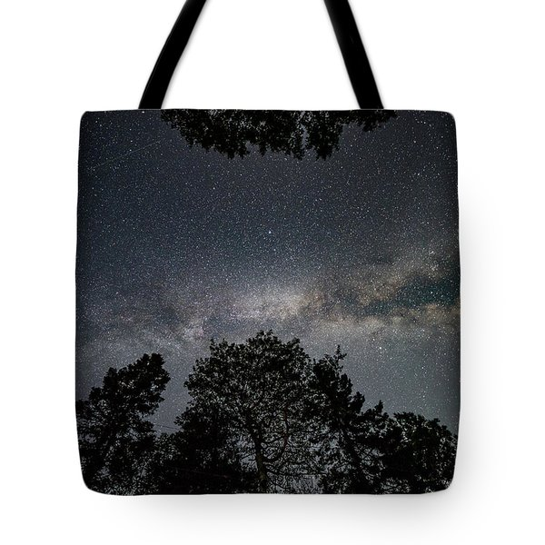 Tote Bag featuring the photograph Looking Up At The Milky Way by Darryl Hendricks