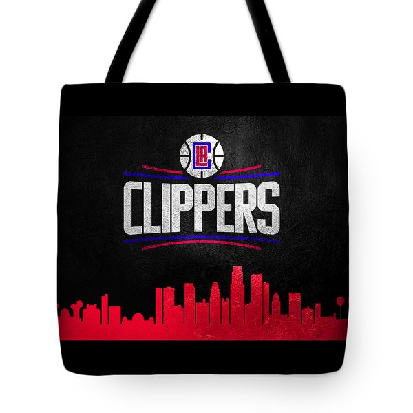 Los Angeles Clippers Skyline Tote Bag