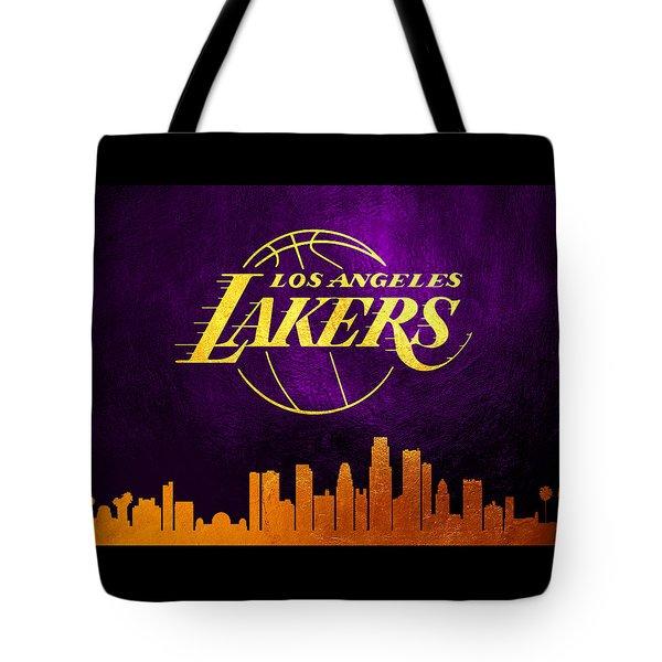 Los Angeles Lakers Skyline Tote Bag