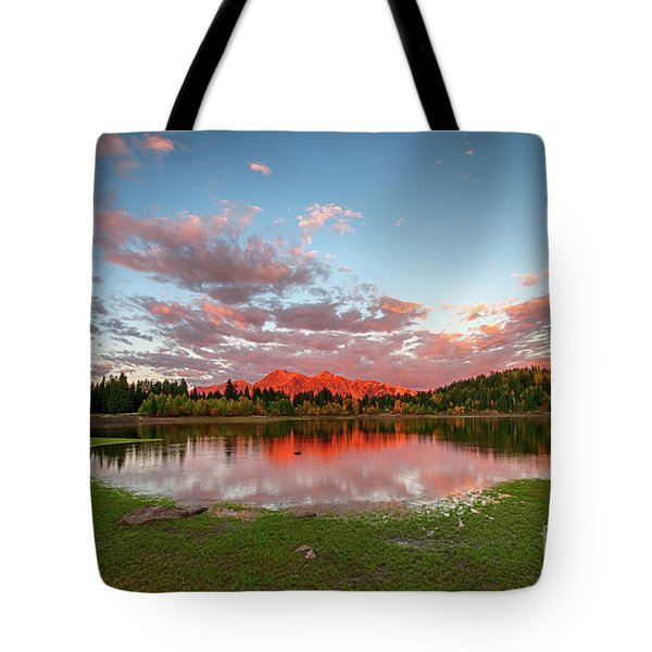 Tote Bag featuring the photograph Lost Lake Sunset by Joe Sparks