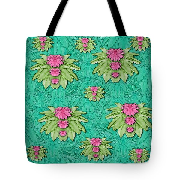 Lotus Bloom In The Sacred Soft Warm Sea Tote Bag