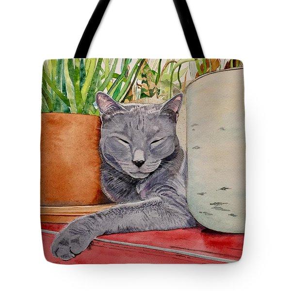 Louie In An Urban Jungle Tote Bag
