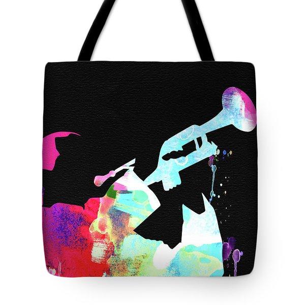 Louis Armstrong Watercolor Tote Bag