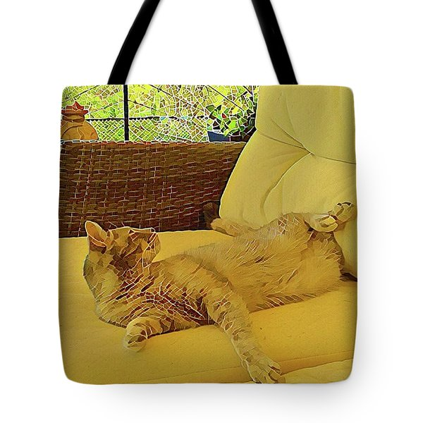 Tote Bag featuring the photograph Lounging Around by Dorothy Berry-Lound