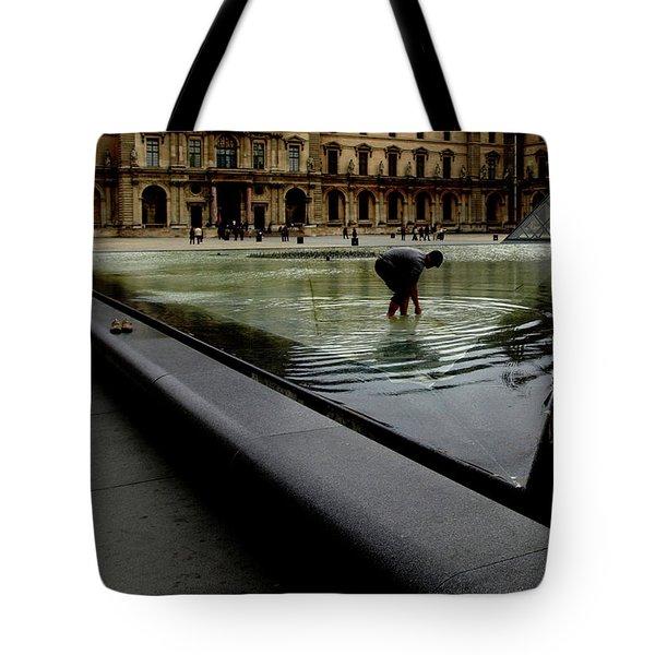 Louvre, Water Tote Bag