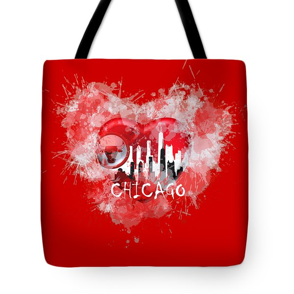 Love Chicago Colors Tote Bag