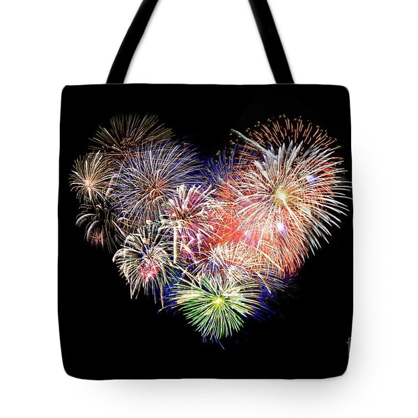 Love Fireworks Tote Bag