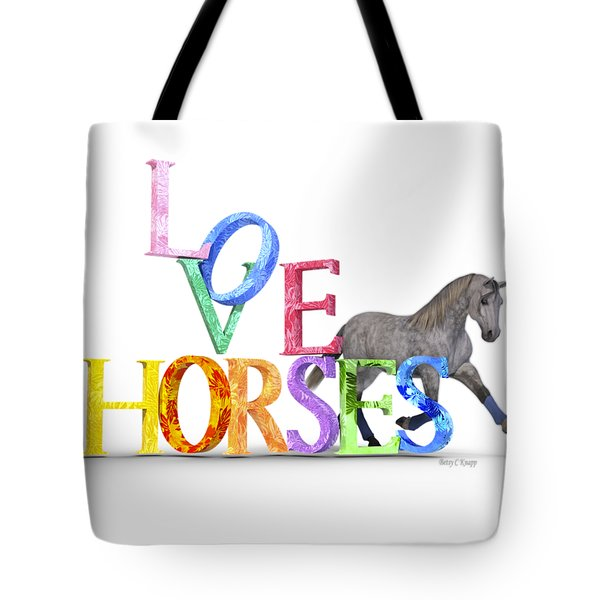 Love Horses Dapple Gray Tote Bag
