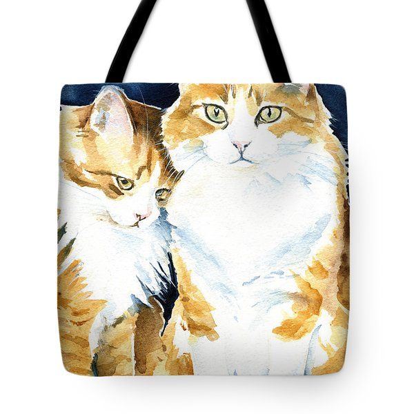 Love Me Meow Cat Painting Tote Bag