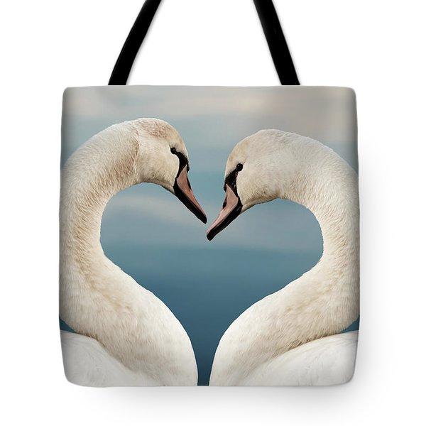 Love Swans Tote Bag