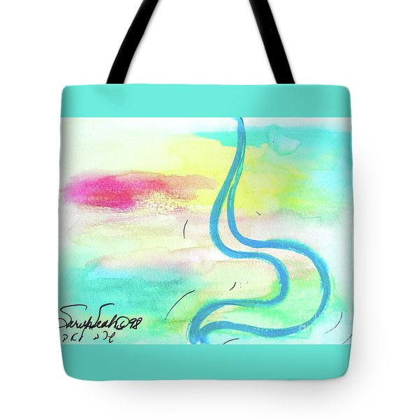 Tote Bag featuring the painting Lovely Lamed  L5 by Hebrewletters Sl