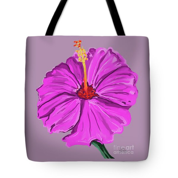 Lovely Pink Hibiscus Tote Bag