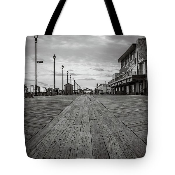 Low On The Boardwalk Tote Bag