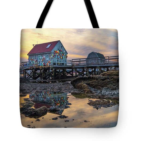 Low Tide Reflections, Badgers Island.  Tote Bag