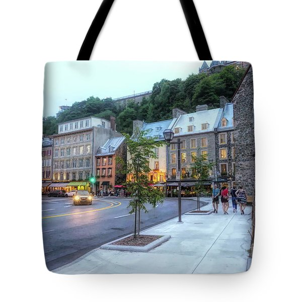 Twilight - Lower Town Quebec City Tote Bag