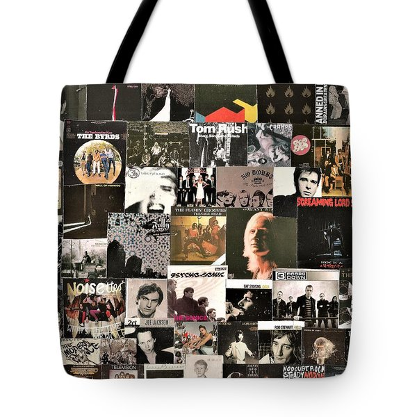 Lps In Black Collage 8 Tote Bag