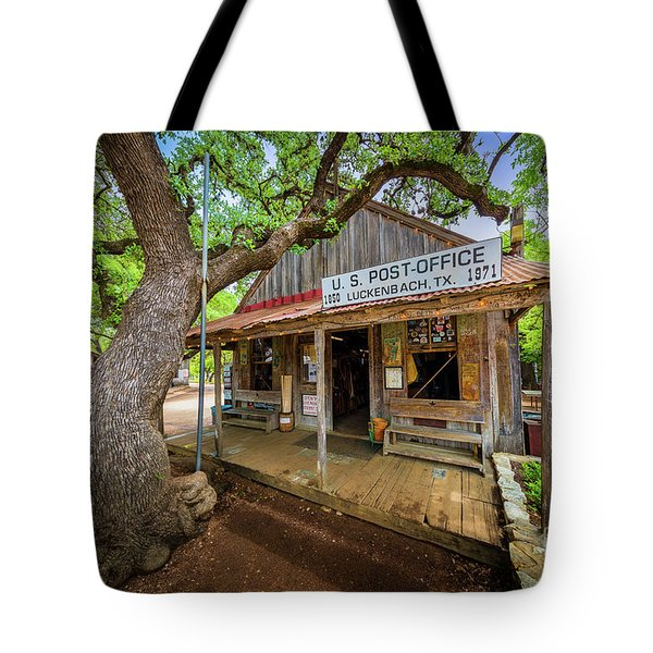 Luckenbach Town Tote Bag