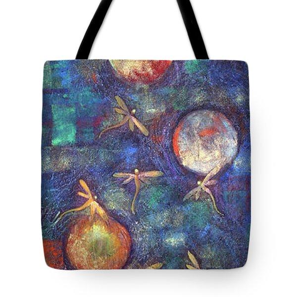 Luminous Dragonflies Tote Bag