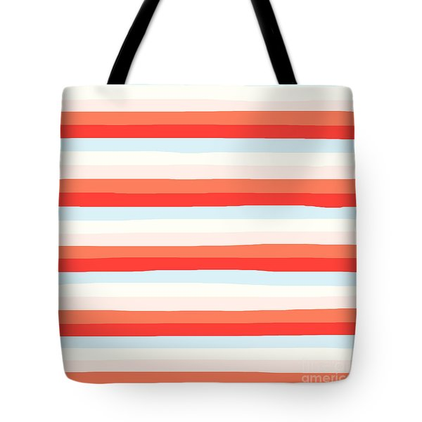 lumpy or bumpy lines abstract and colorful - QAB266 Tote Bag