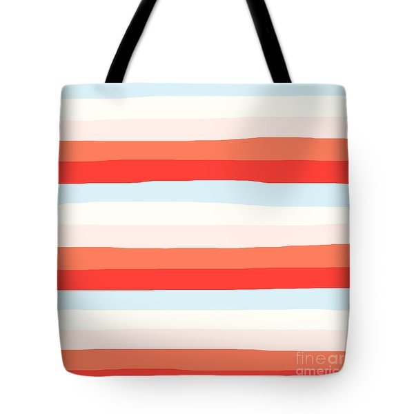 lumpy or bumpy lines abstract and colorful - QAB268 Tote Bag