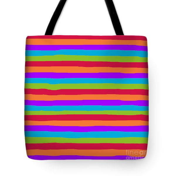 lumpy or bumpy lines abstract and summer colorful - QAB273 Tote Bag