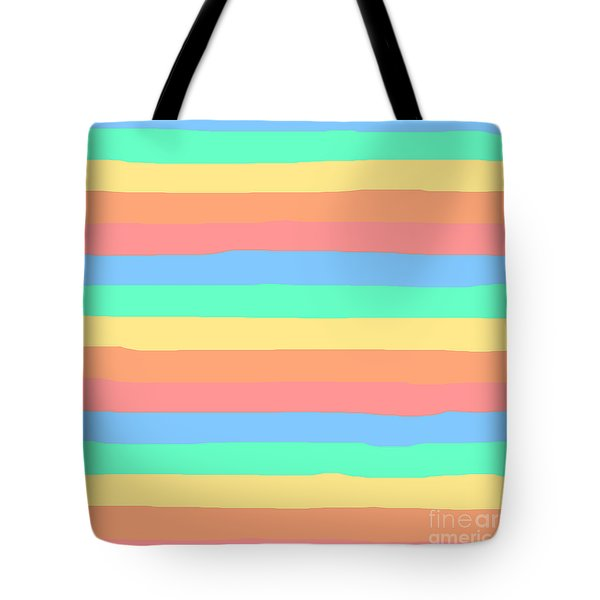 lumpy or bumpy lines abstract and summer colorful - QAB275 Tote Bag