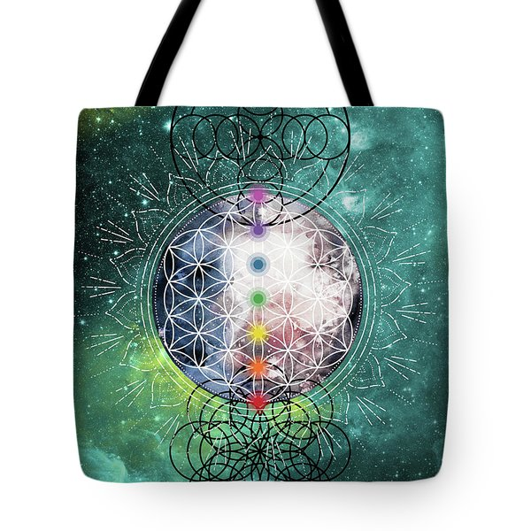 Tote Bag featuring the digital art Lunar Mysteries by Bee-Bee Deigner