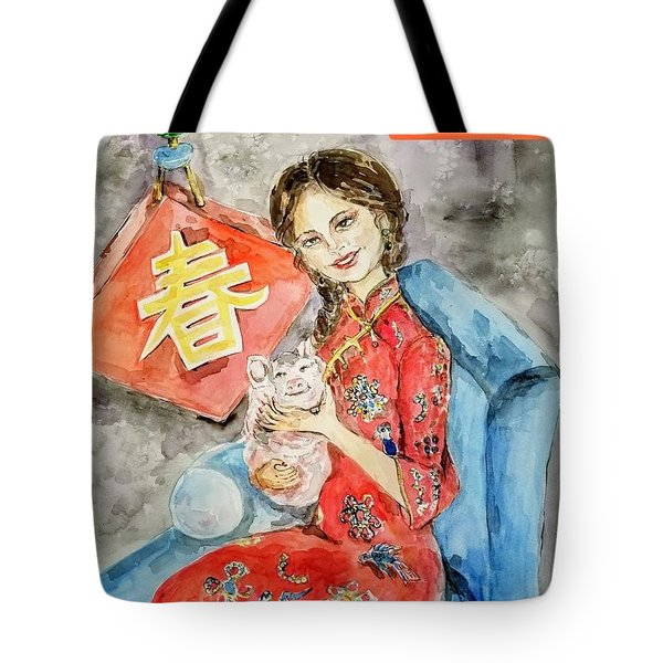 Lunar New Year Celebration Tote Bag