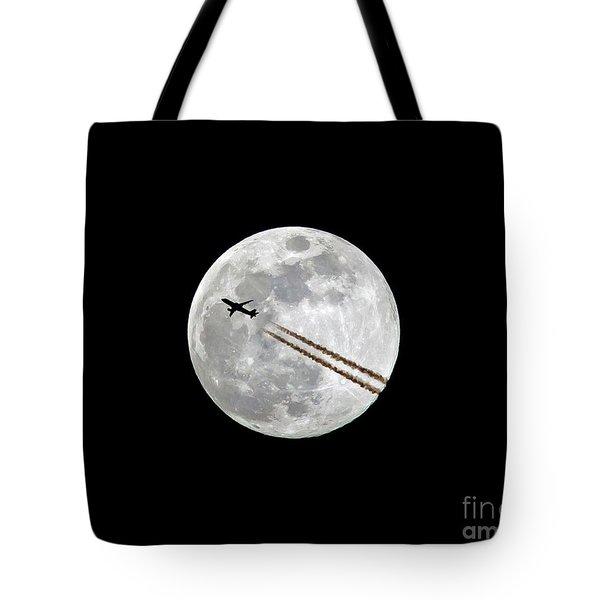 Lunar Photobomb Tote Bag