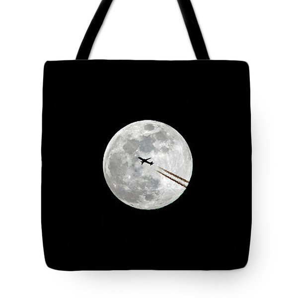 Lunar Silhouette In Sequence Tote Bag