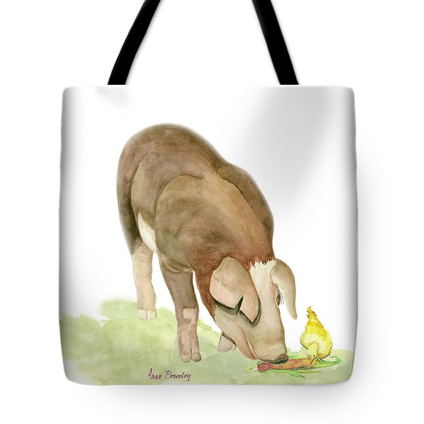 Lunch At The Farm Tote Bag