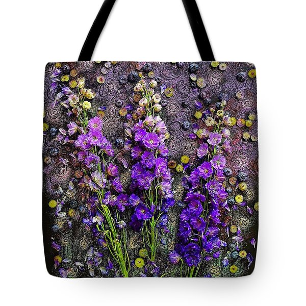 Lupine And Blueberries  Tote Bag