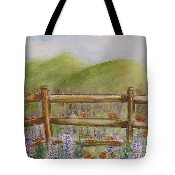 Lupines With A Side Of Poppies Tote Bag