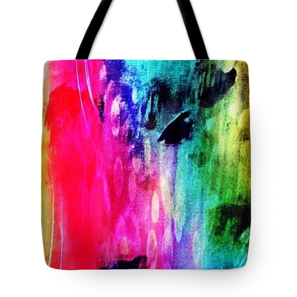 Tote Bag featuring the mixed media Luxe Splash  by Rachel Maynard