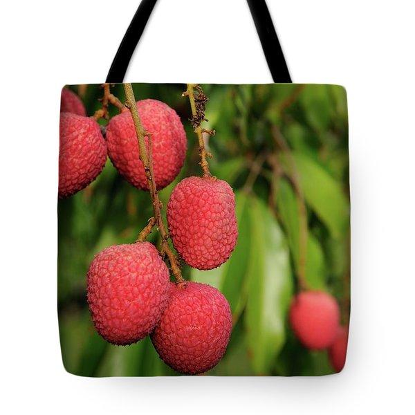 Lychee Fruit On Tree Tote Bag