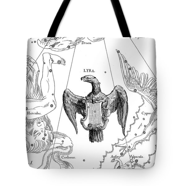 Lyra, The Boreal Constellation Of The Lyre Tote Bag