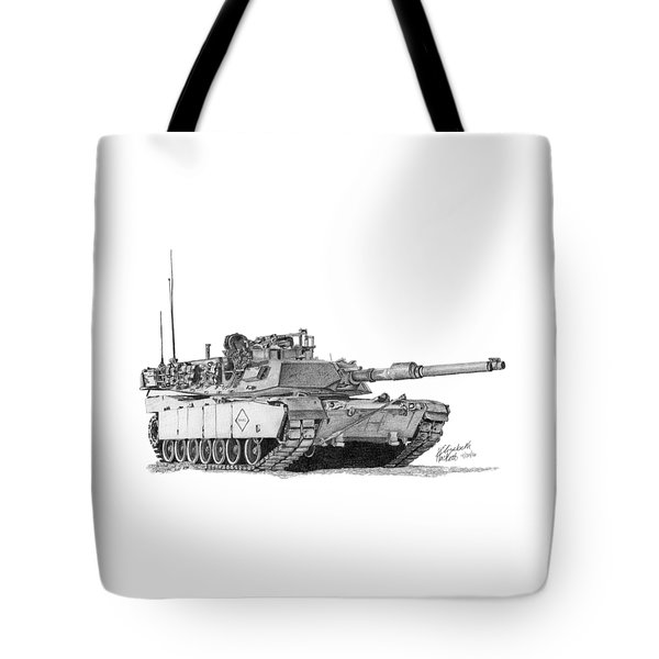 M1a1 Battalion Master Gunner Tank Tote Bag