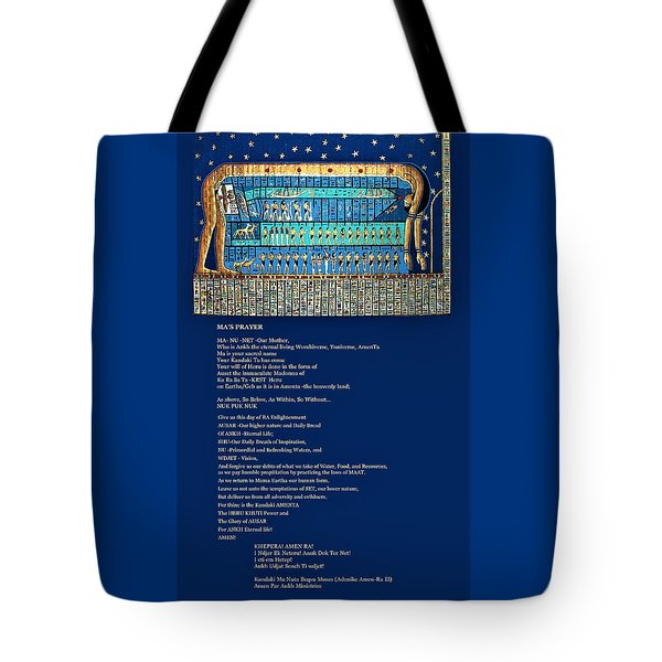 Ma Of Amenta Tote Bag