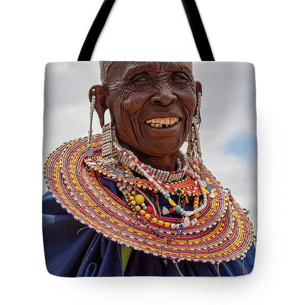 Maasai Woman In Tanzania Tote Bag
