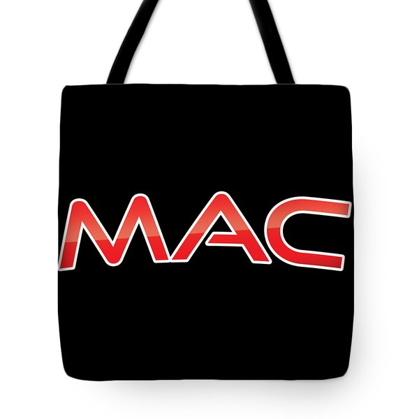 Tote Bag featuring the digital art Mac by TintoDesigns