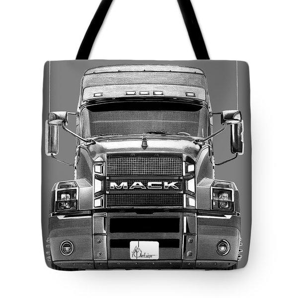 Mack Truck Drawing Tote Bag