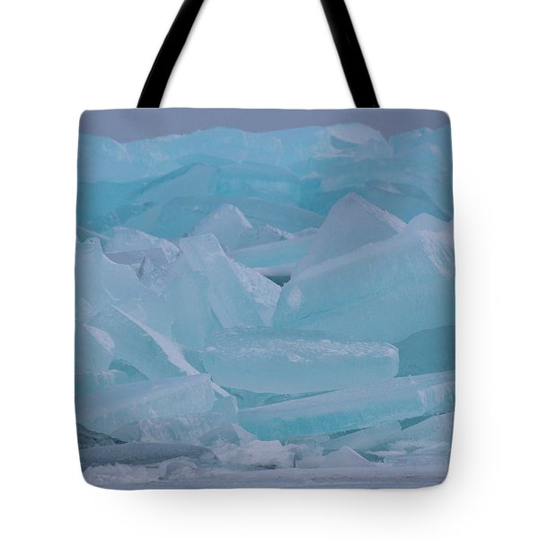Mackinaw City Ice Formations 21618010 Tote Bag