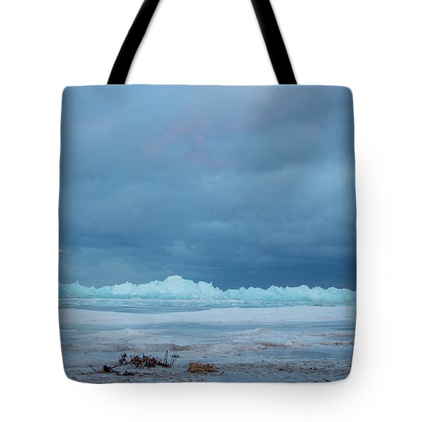 Mackinaw City Ice Formations 21618011 Tote Bag