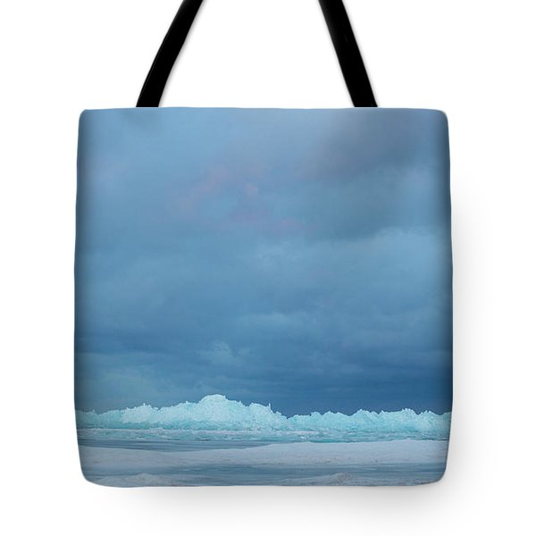 Mackinaw City Ice Formations 21618012 Tote Bag