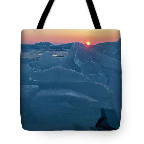 Mackinaw City Ice Formations 21618013 Tote Bag